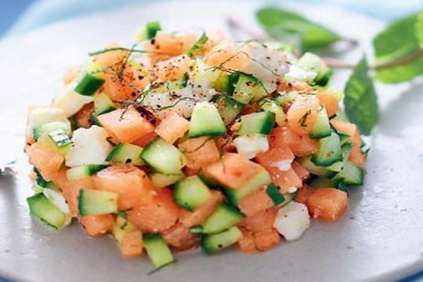salade fraicheur originale au melon concombre et féta