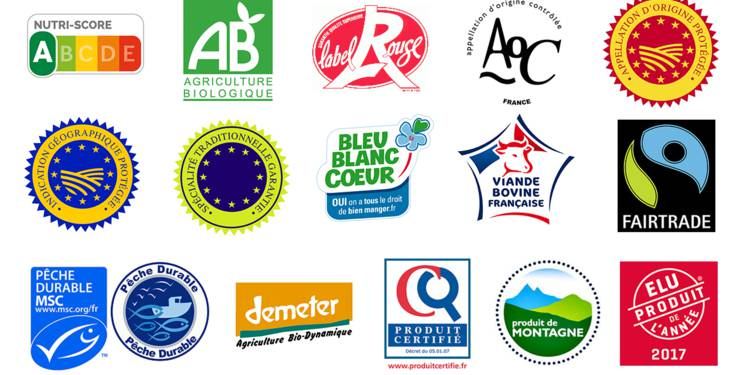 logo qualités pour un aliment
