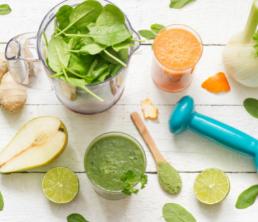 planche avec des fruits et legumes