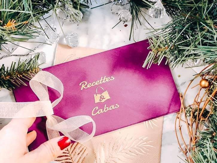 Une carte cadeau Recettes et Cabas pour Noël