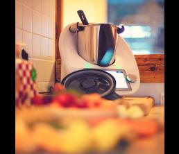 robot cuiseur dans une cuisine