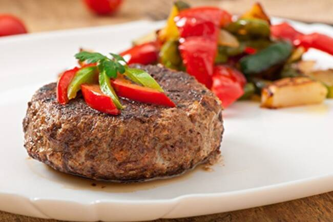 Recette Steak haché bio, légumes sautés