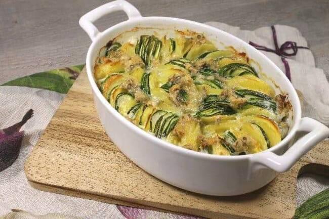 Recette Tian de courgettes au gorgonzola