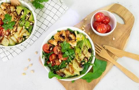 Recette Salade gourmande de poulet aux légumes (SG)