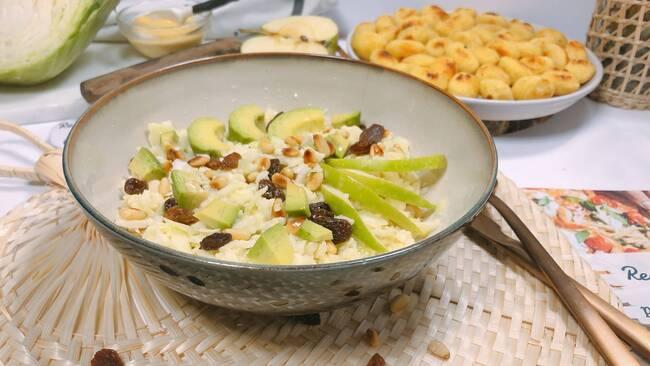 Recette Salade complète d'hiver et gnocchis poêlés