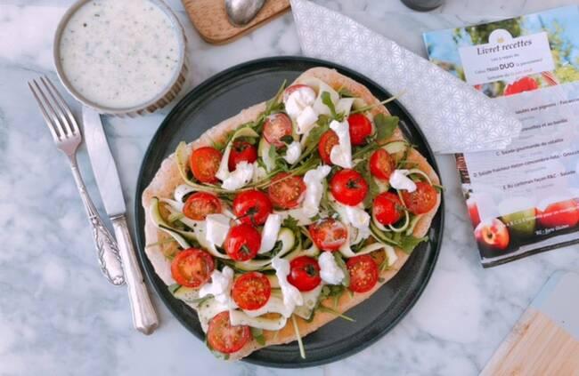 Recette Pizza blanche à l'italienne, soupe concombre