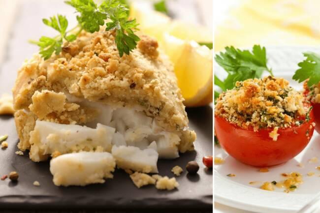 Recette Dos de lieu pané maison, tomates provençales