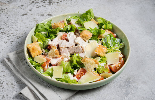 Recette Salade Caesar et pommes de terre nouvelles