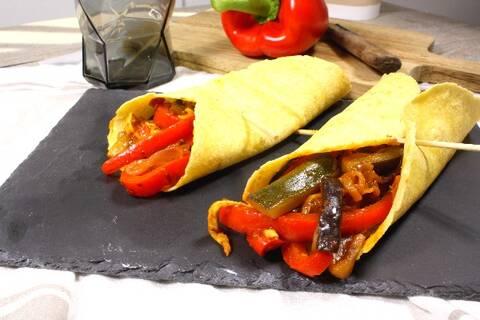 Recette de Fajitas aux légumes d'été - Salade