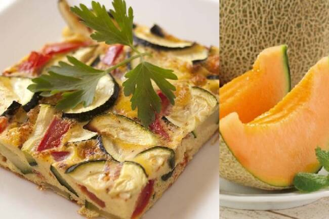 Recette Frittata d'été - Melon