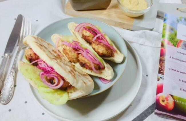 Recette Pita grecque au poulet