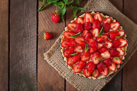 Recette de Tarte aux fraises au mascarpone, basilic, citron vert par Anne