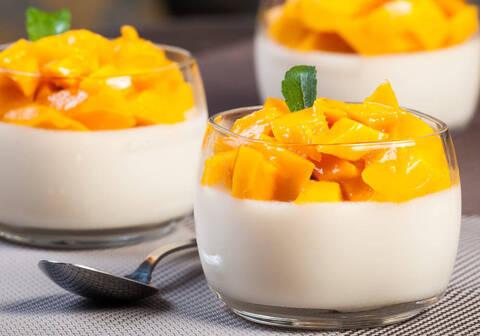 Recette de Blanc-manger mangue au lait de coco