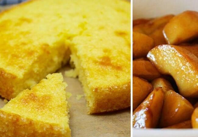 Recette Gâteau moelleux au citron et pommes caramélisées au four
