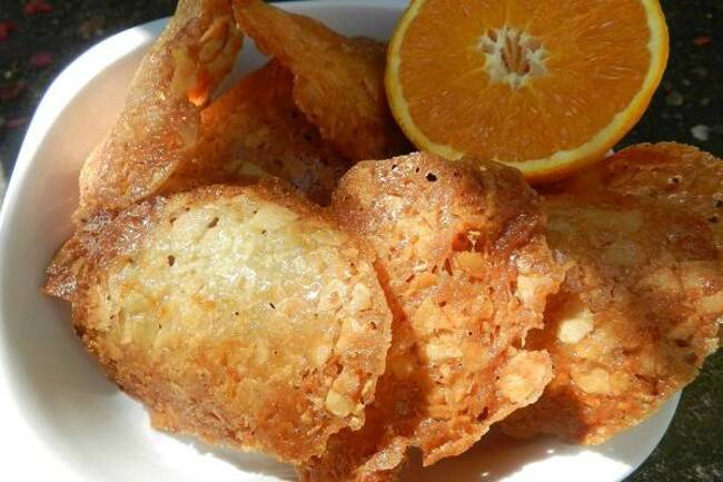 Recette Tuiles à l'orange et aux amandes - Salade d'oranges