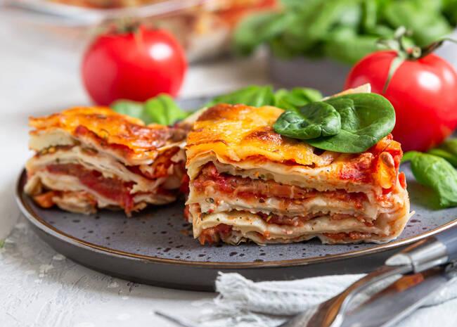 Recette Lasagnes végétariennes aux tomates et mozzarella