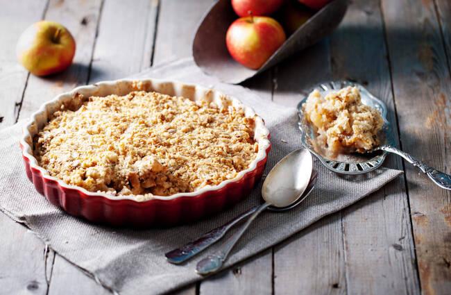 Recette Crumble aux pommes et aux poires