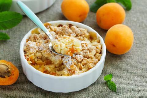Recette de Crumble aux abricots