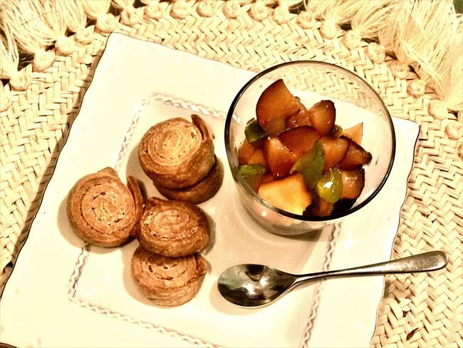 Recette Sablés spirale salade de fruits