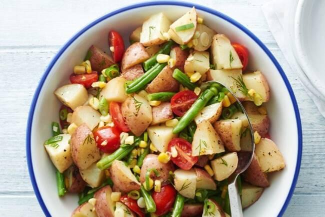 Recette Salade de pommes de terre aux légumes (SG)