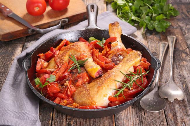 Recette Poulet basquaise et pommes de terre (SG)