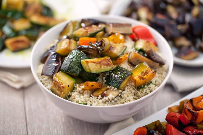 Recette Tajine de légumes du soleil et millet à la coriandre (SG)