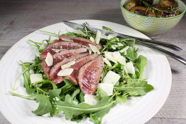 Recette Tagliata de boeuf à l'italienne, pommes de terre grenaille (SG)
