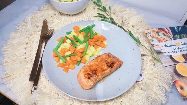 Recette Saumon laqué, jardinière de légumes (SG)