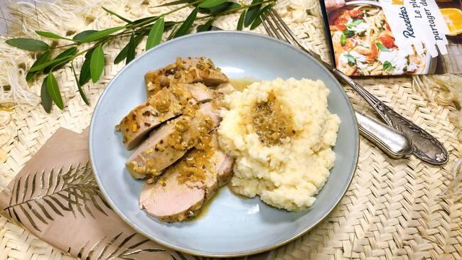 Recette Filet mignon de porc, purée de céleri (SG)