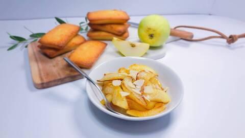 Recette de Poêlée de poires à la vanille et financiers maison