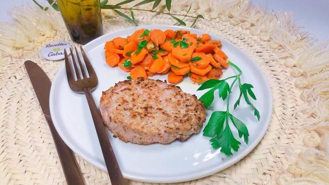 Recette Steak haché de veau, carottes Vichy (SG)
