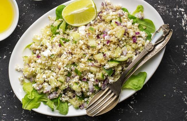 Recette Risotto de quinoa aux courgettes