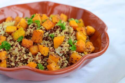 Recette Quinoa au potiron à l'orange et aux dattes (SG)