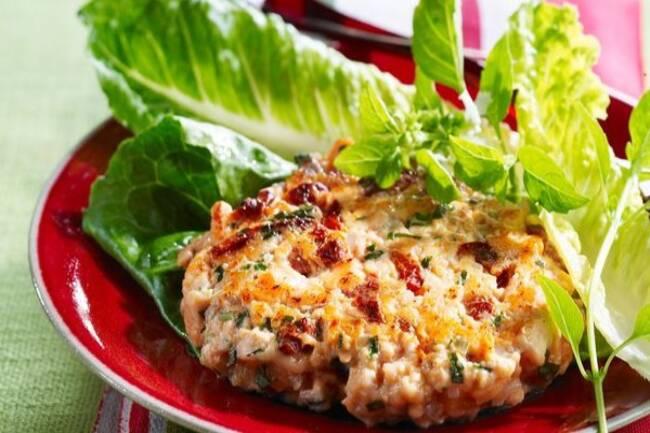 Recette Galette de saumon sur tartare tomates/poivron