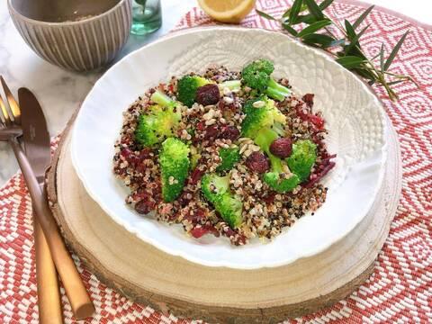 Recette de Trio de quinoa aux légumes et aux amandes - Avocats (SG)