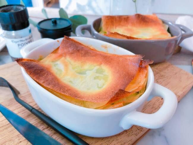 Recette Croustillant d'épinards à la grecque - Salade