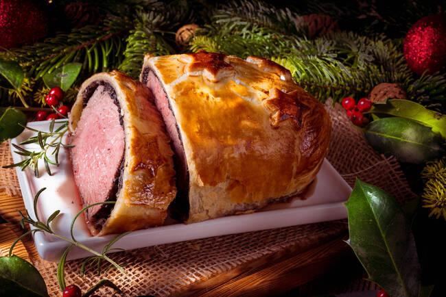 Recette Filet de bœuf en croûte aux châtaignes et haricots verts