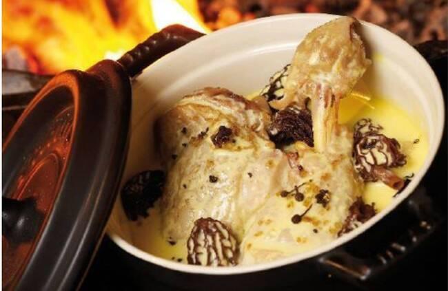 Recette Suprêmes de Pintade à la crème et aux morilles, timbale de riz