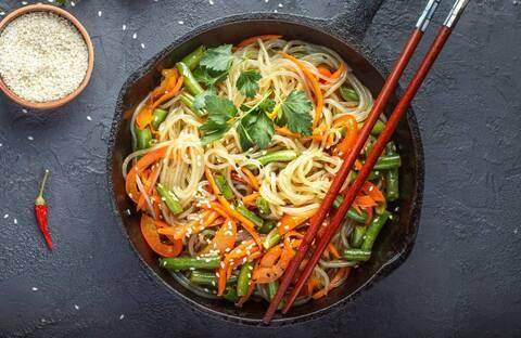 Recette de Spaghettis aux carottes et au lait de coco