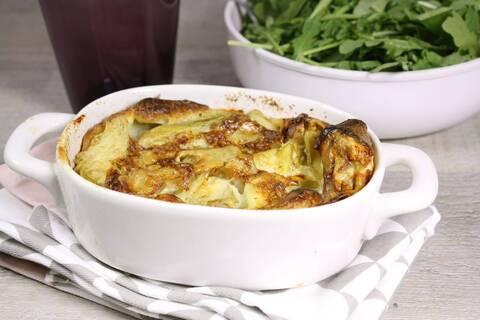 Recette de Clafoutis de cœurs d'artichauts au gorgonzola - Soupe de légumes