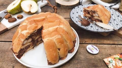 Recette de Charlotte poire chocolat-crème de marron
