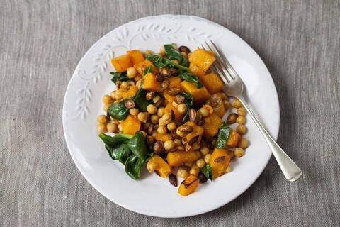 Recette Salade aux pois chiches et au potimarron