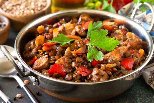 Recette Chili de lentilles aux légumes d'hiver (SG)