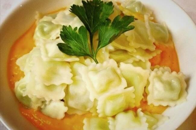 Recette Ravioles poêlées et mousseline de carottes