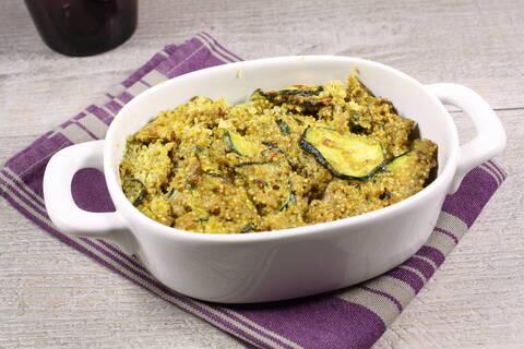 Recette de Quinoa aux courgettes et terrine artisanale (SG)