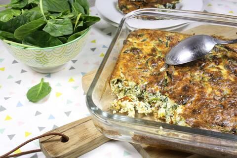 Recette de Flan de ricotta aux épinards- Salade (SG)