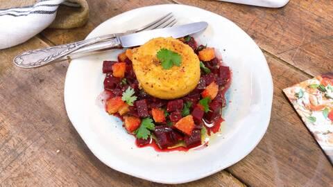 Recette de Croc tofu - Salade de betteraves rouge (SG)