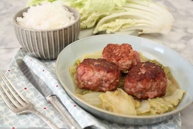 Recette Boulette de porc et chou chinois (SG)