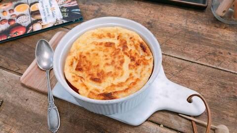 Recette de Soufflé au fromage, salade