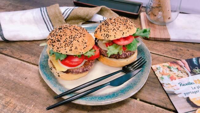 Recette Burger végétarien, salade verte